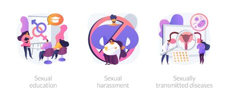 Sexual behavior abstract concept vector illustrations.