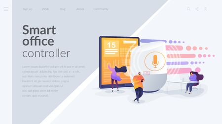 Smart speaker office controller landing page template.