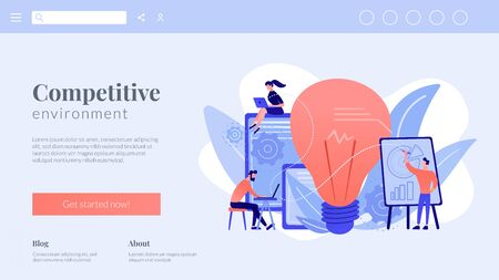 Competitive intelligence concept landing page.