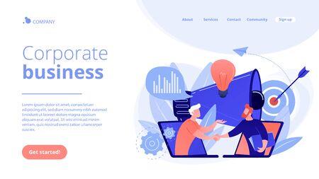 Collaboration concept landing page.