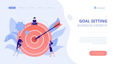 Goals and objectives concept landing page.