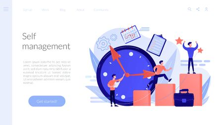 Self management concept landing page.