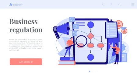 Business rule concept landing page.
