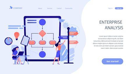 Decision management concept landing page.