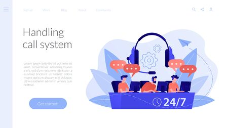 Call center concept landing page.