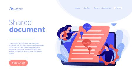 Shared document concept landing page.