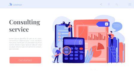Audit service concept landing page.