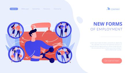 Employee sharing concept landing page