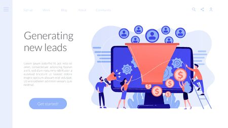 Generating new leads concept landing page