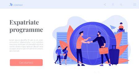Expat work concept landing page