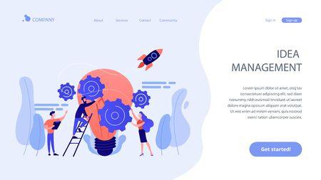 Idea management concept landing page. Vektorgrafik