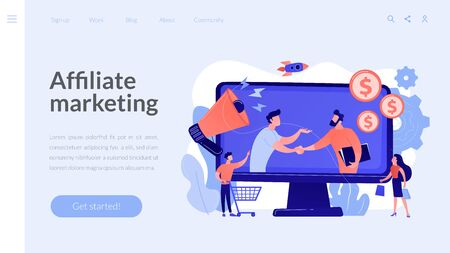 Affiliate marketing concept landing page.