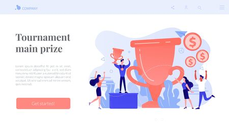 Prize pool concept landing page.