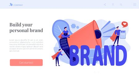 Personal brand concept landing page