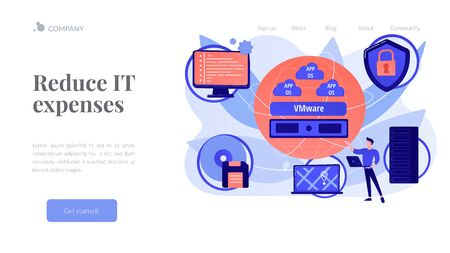 Virtualization technology concept landing page