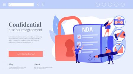 Nondisclosure agreement concept landing page