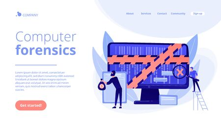 Computer forensics concept landing page
