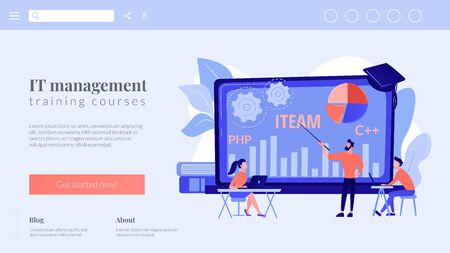 IT management courses concept landing page
