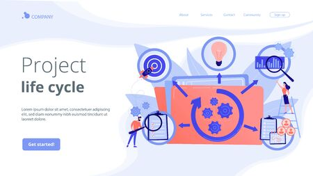 Project life cycle concept landing page