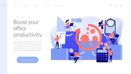 Workflow processes concept landing page.