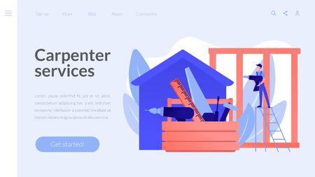 Carpenter services concept landing page