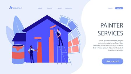 Painter services concept landing page Illustration