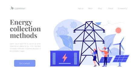 Energy storage concept landing page.