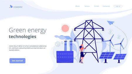Alternative energy concept landing page.