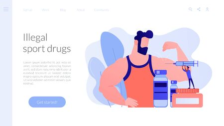Anabolic steroids concept landing page.