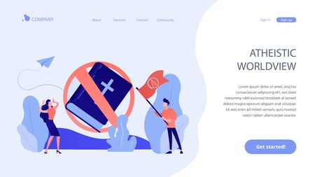 Atheistic world view concept landing page.