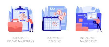 Tax payment terms vector concept metaphors Vektorgrafik