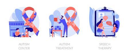 Autism spectrum disorder vector concept metaphors.