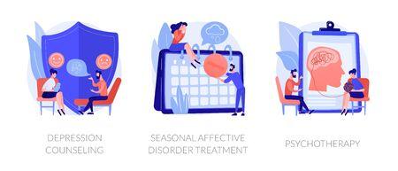 Mental disorder treatment vector concept metaphors.