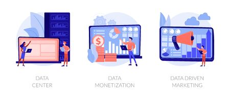 Big data storage and use vector concept metaphors Illustration