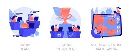 E-sport vector concept metaphor.
