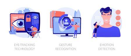 Modern sensor technologies vector concept metaphors.