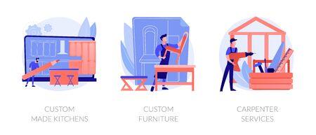 Apartment interior design abstract metaphors Ilustração