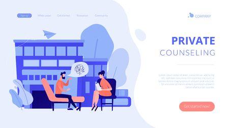 Psychologist service concept landing page.