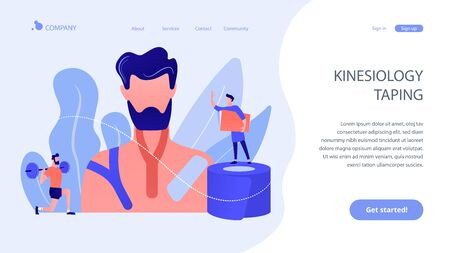Kinesiology taping concept landing page.