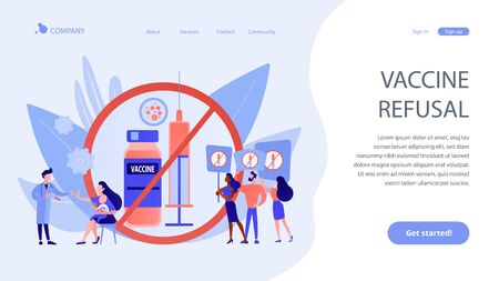 Refusal of vaccination concept landing page.