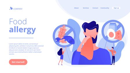 Food allergy concept landing page.