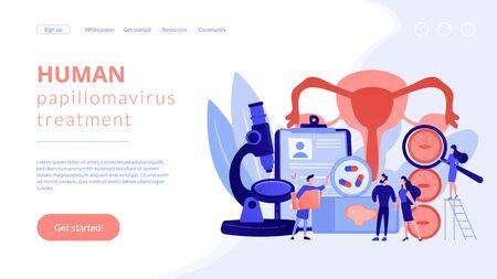 Human papillomavirus treatment concept landing pageation Ilustrace