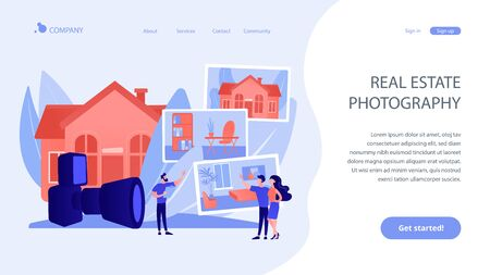 Real estate photography concept landing page