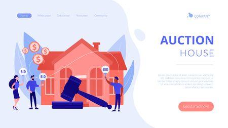 Auction house concept landing page.
