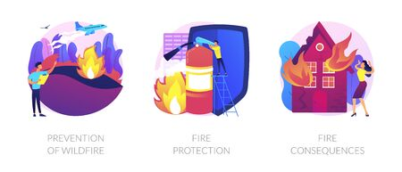 Firefighting vector concept metaphors