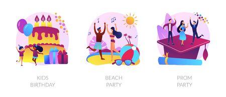 Festive events vector concept metaphors. Stock Illustratie