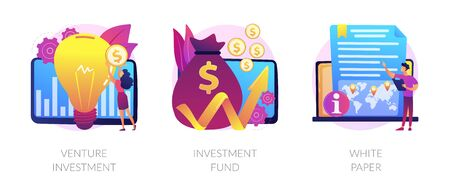 Investment in technologies vector concept metaphors Illustration