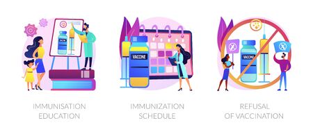 Immunisation policy and implementation abstract concept vector i