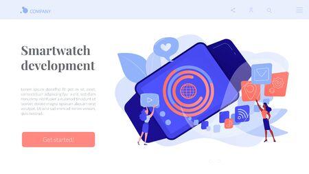 Smartwatch app concept landing page.