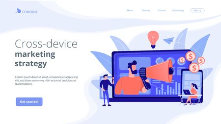Cross-device marketing concept landing page.